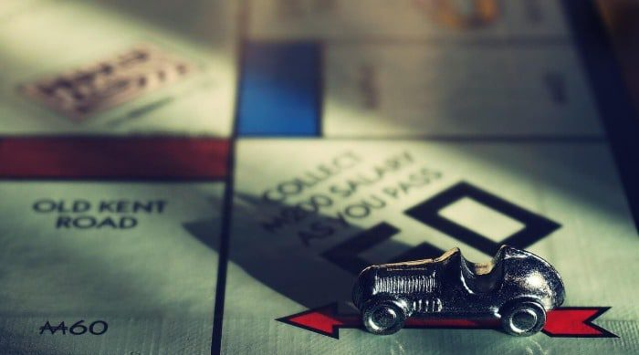 Monopoly game collecting salary earning capacity divorce analogy