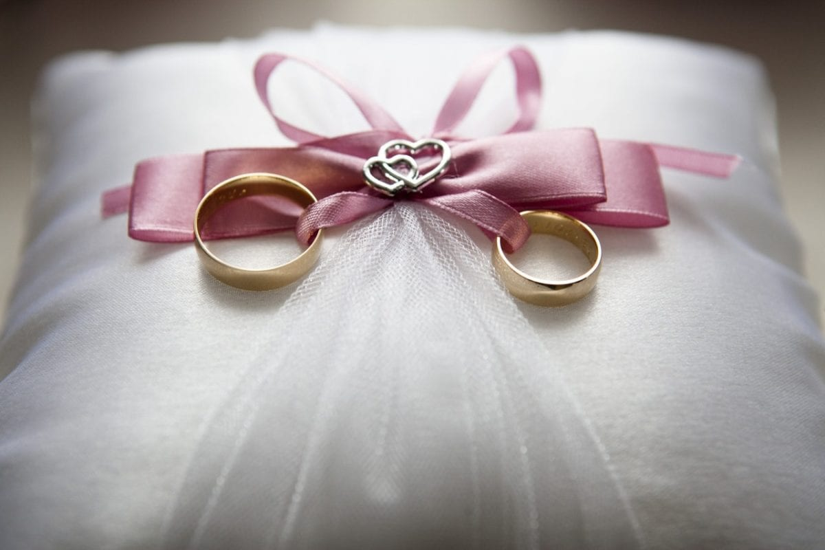Gay marriage and divorce rings symbol